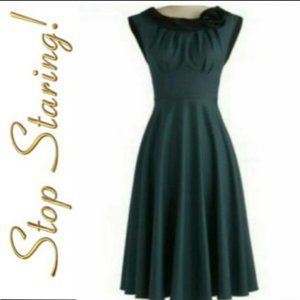 Stop Staring forest green swing dress plus size